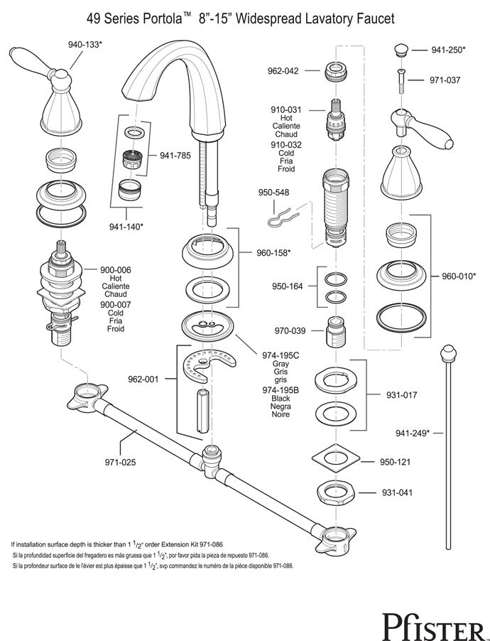 kitchen faucets with sprayer diagram